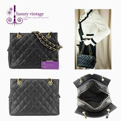 CHANEL PTT Black Colour Caviar With Gold Hardware Good Condition Ref.code-(BVLEK-1) More Information Or Price Pls Email  (- luxuryvintagekl@ gmail.com)