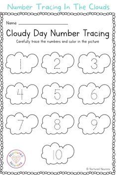 Printable Activities For Kids, Montessori Activities, Worksheets For Kids, Preschool Activities, Free Preschool, Kindergarten Worksheets, Line Tracing Worksheets, Number Formation, Number Tracing