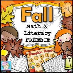 Fall Math and Literacy FREEBIE from TeacherTam on TeachersNotebook.com -  (10 pages)  - FREE!  This fall-themed math and literacy set has 10 pages.  It includes an emergent reader, a bump addition game, pages that focus on sight words, and more!