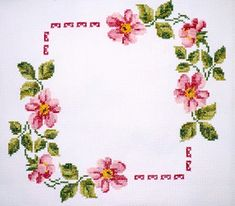 *flowers --- cross-stitch* Would be pretty as a frame
