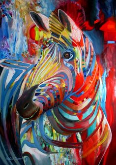 "Saatchi Art Artist: Robert Doesburg; Oil 2011 Painting ""zebra"""