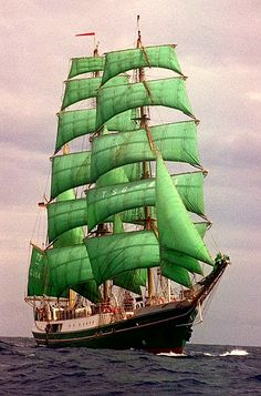 Alexander von Humboldt, built in Bremen [sailed North & Baltic Seas until retired converted into Barque relaunched & now participates in annual tall ship's race] Tall Ships, Old Sailing Ships, Sailing Boat, Yacht Boat, Set Sail, Wooden Boats, Water Crafts, Lighthouse, Nautical