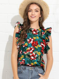Our Colorful Flowers BOHO Tropical Blouse is the perfect summertime top. Pair up with jeans or shorts for a super fun look. Stylish Summer Outfits, Boho Outfits, Casual Outfits, Fashion Outfits, Fashion Ideas, Trendy Clothes For Women, Blouses For Women, Urban Fashion, Boho Fashion