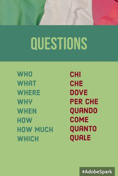 Perché is one word. Italian Verbs, Basic Italian, Italian Grammar, Italian Vocabulary, Italian Phrases, Italian Life, Learning Italian, Learning Spanish, Spanish Activities