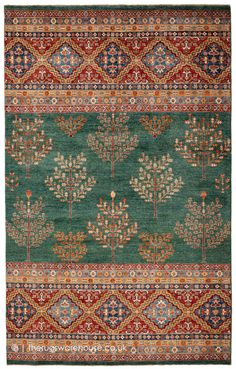 Hand Knotted Rugs, Hand Weaving, Green Rugs, Classic Rugs, Afghan Rugs, Color Of Life, Weaving Techniques, Traditional Rugs, Persian Rug