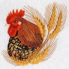 Roosters 7 - 2 Sizes! | What's New | Machine Embroidery Designs | SWAKembroidery.com Ace Points Embroidery