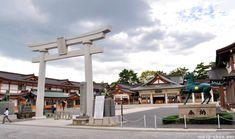 The torii that suvived the atomic bomb...Hiroshima Castle's Shrine