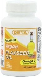 Deva Organic Vegan Vitamins Flax Seed Oil, 90 Vcaps (Pack of Pack of two, per unit (total of 180 counts) Organic, unrefined, cold pressed Provide all the benefits of flaxseed oil without having to taste the oil itself Vegetarian; Flaxseed Oil Omega 3, Flaxseed Oil Capsules, Vegan Vitamins, Essential Fatty Acids, Essential Oils, Diet Supplements, Fish Oil, Vitamins And Minerals