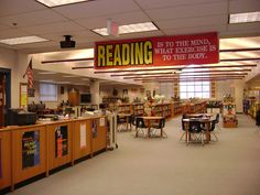Signage: Using large bold signage engages quickly and can be used for procedural directions or marketing areas of the library program.