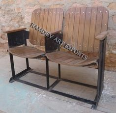 Indian Vintage Cinema Chair Set of Two