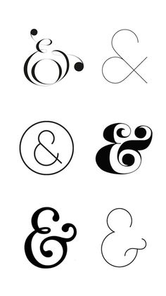 Also must have an ampersand. Open to style.