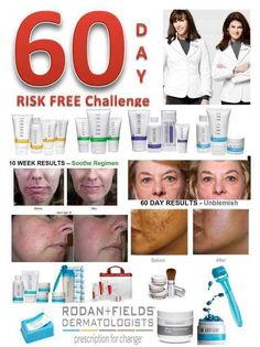 Take the 60 day challenge! If our products don't EXCEED your expectations by addressing and resolving your skin issues - wrinkles, acne, hyper-sensative skin, sun damaged skin - get ALL your money back! If you've got 60 days, I've got the products to give you beautiful, smooth, supple, clear skin!   http://www.catwilson.myrandf.com/shop