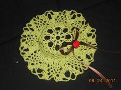 crochet doily hat
