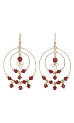 Earrings with Swarovski Crystal Beads and Wirework - Fire Mountain Gems and Beads