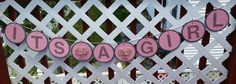 It's a Girl Glitter Baby Shower Banner by IttyBittyBoutik on Etsy