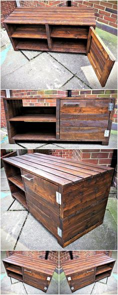 pallets tv stand project 13