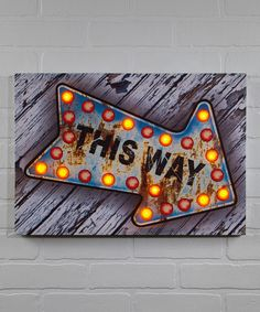 Another great find on #zulily! Arrow Lighted Wrapped Canvas by Ohio Wholesale, Inc. #zulilyfinds
