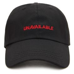Forever21 Unavailable Embroidered Dad Cap ($9.90) ❤ liked on Polyvore featuring accessories, hats, brim cap, embroidered caps, forever 21, embroidered hats and cotton hat