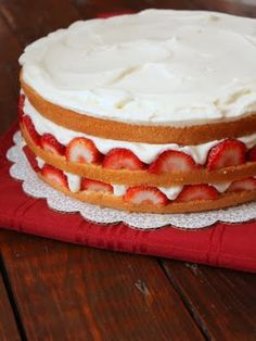 KEEP FOR THE WHIPPED CREAM RECIPE FROM SCRATCH.Giant Strawberry Shortcake