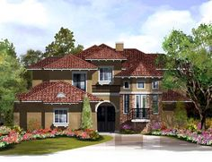 Elevation of Victorian   House Plan 61583