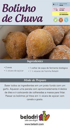 Receita de Bolinho de Chuva sem Glúten e sem Leite/Lactose! Outras deliciosas receitas você confere no nosso blog: https://www.emporioecco.com.br/blog/receitas/