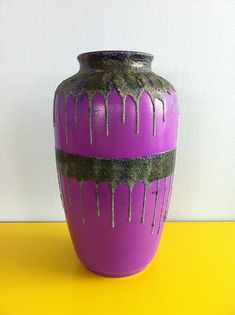 Anonymous; Glazed Ceramic Floor vase by Carstens, 1960s.