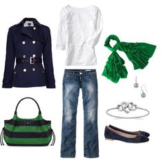 i'm just a sucker for a nautical jacket paired with green and white and navy. the kate spade bag doesn't hurt either.