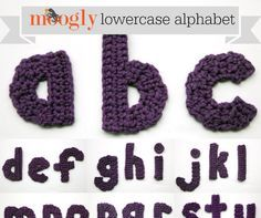 The Moogly Crochet Lowercase Alphabet ~ Moogly