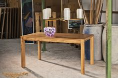 Solid Wood, Table, Furniture, Home Decor, Lunch Room, Oak Tree, Wood, Tables, Home Furnishings