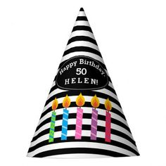 Personalized Birthday Candles Paper Hat