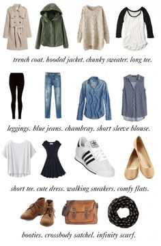 Packing Light: How to Create a 15 Piece Travel Wardrobe College Fashion : Travel capsule Travel Capsule, Travel Packing, Packing Tips, Travel Hacks, Travel Tips, Travel Gadgets, Travel Ideas, Travel Backpack, Sas Travel
