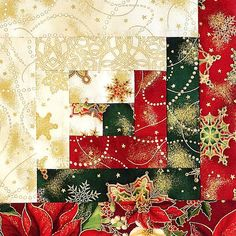 Latest Photographs log cabin Quilting Ideas Kaufman 12 Block Log Cabin PRE-CUT Christmas by Jo… – Christmas Patchwork, Christmas Quilt Patterns, Quilt Block Patterns, Quilt Blocks, Christmas Quilting, Crochet Christmas, Star Quilts, Colchas Quilting, Quilting Projects