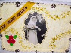 Auch die goldene Hochzeit darf mit einer ordentlichen Hochzeits-Torte aus Sahne und feinen Steuseln gefeiert werden.