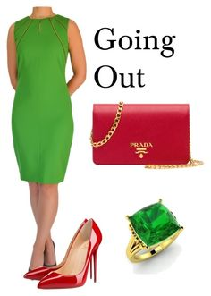 Going Out by tubino-skirts-dresses on Polyvore featuring mode, Christian Louboutin, Prada and Diamondere