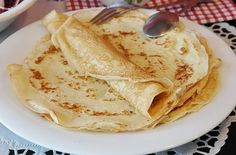 WW Light Pancakes - Dish and Recipe - WW light pancakes, tasty light pancakes without butter at only 2 sp per pancake, very easy to make - Best Lemon Meringue Pie, Lemon Curd Filling, Czech Recipes, Ww Recipes, German Recipes, Katsu Curry Recipes, German Pancakes Recipe, Spice Trade, Frozen Puff Pastry