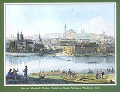 Vincenc Morstadt. Pohled na Malou Stranu a Hradčany II., 1825