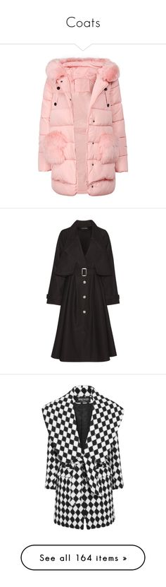 """""""Coats"""" by julidrops ❤ liked on Polyvore featuring outerwear, coats, coats & jackets, yoins, hooded coat, pink hooded coat, pink coat, cotton trench coat, trench coat and cotton coat"""