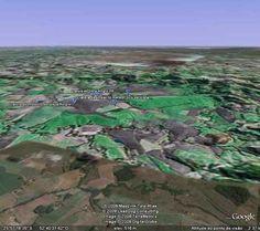 Visão da cratera de Vista Alegre. Distrito de Vista Alegre, Município de Coronel  Vivida - Paraná.