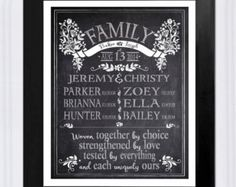Personalized Christmas Gift for Parents, Blended Family Chalkboard, Gift for Step Mom, Step Parent Art Print, Custom Gift for Wife Christmas Gifts For Parents, Gifts For Your Mom, Gifts For Wife, Mother Day Gifts, Personalized Mother's Day Gifts, Customized Gifts, Best Wedding Gifts, Parent Gifts, Last Minute Gifts