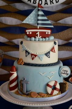 Riding in The Lap of Luxury Travel With a Virgin Island Yacht Charters Boat Birthday Parties, 1st Birthday Cakes, Baby First Birthday, Nautical Cake, Nautical Theme, Cake Central, Wedding Humor, No Bake Cake, First Birthdays