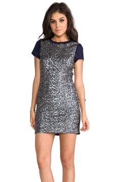 heartLoom Mallory Sequin Dress in Midnight from REVOLVEclothing