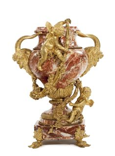 A large gilt bronze-mounted Sarrancolin marble urn Paris, late 19th/early 20th century, attributed to Belnot   Lot   Sotheby's