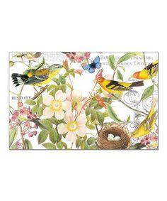 Botanical Birds Disposable Place Mat - Set of 24 by CounterArt, $12 !!  #zulily #zulilyfinds