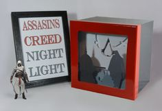 Assassin's Creed shadow box with light  Special by FairyCherry