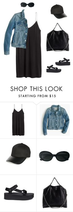 """YVR YVR Option"" by yuenchewwan ❤ liked on Polyvore featuring H&M, J.Crew, BP., Yves Saint Laurent, Teva and STELLA McCARTNEY"