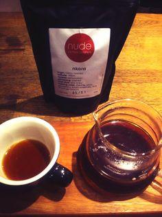 Nude Espresso, London, UK. Latest coffee is 'nkora' a Rwandan blend