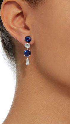 Sapphire, Earrings, Beautiful, Jewelry, Jewellery Making, Jewels, Ear Piercings, Jewlery, Jewerly