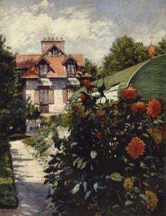 """Gustave Caillebotte, """"Dahlia Garden in Petit-Gennevilliers, 1893"""