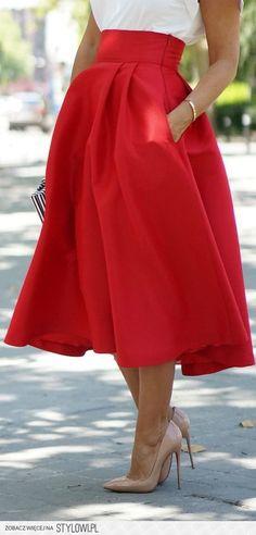 spódnica czerwona