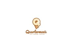 10.2.2012 | Quarterman's logo design by JacobParr #simple #clever #quaint